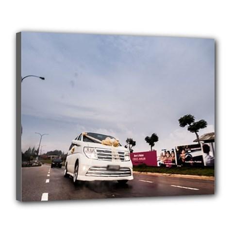 Wedding Car 16  X 20  Framed Canvas Print by Unique1Stop