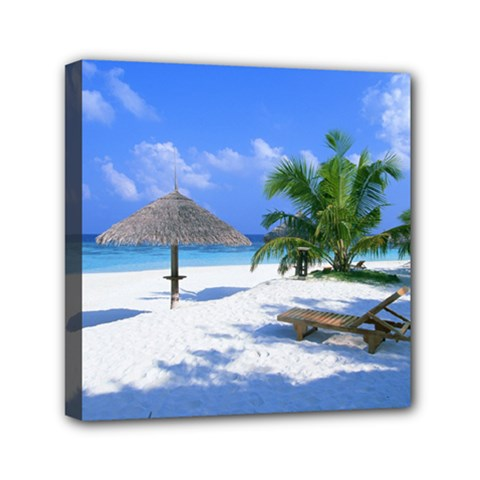 Beach 6  X 6  Framed Canvas Print by Unique1Stop