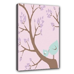 Church Tree Birds - Canvas 18  x 12  (Stretched)