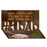Dad  FD 2013 - #1 DAD 3D Greeting Card (8x4)