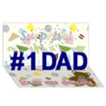 Father s card - #1 DAD 3D Greeting Card (8x4)