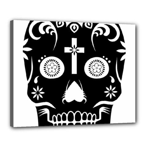 Sugar Skull Canvas 20  X 16  (framed) by asyrum