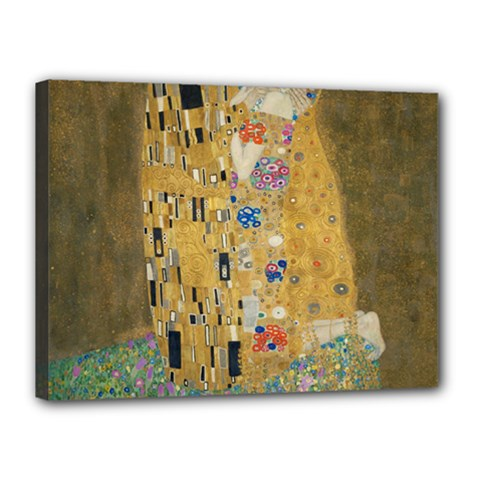 Klimt   The Kiss Canvas 16  X 12  (framed) by ArtMuseum