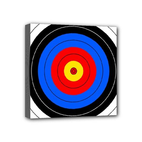 Target Mini Canvas 4  X 4  (framed) by hlehnerer