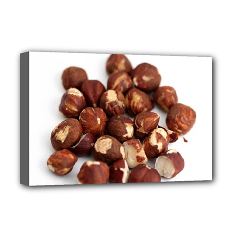 Hazelnuts Deluxe Canvas 18  X 12  (framed) by hlehnerer