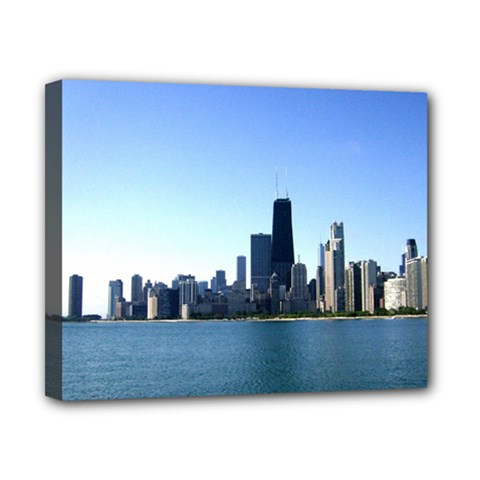 Chicago Skyline Canvas 10  X 8  (framed) by canvasngiftshop