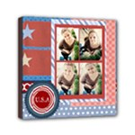 USA 4- july - Mini Canvas 6  x 6  (Stretched)