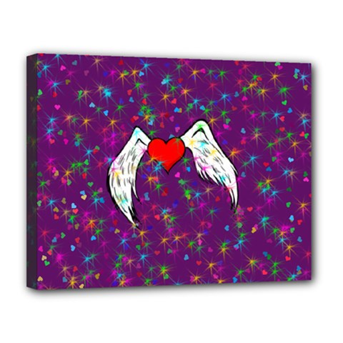 Your Heart Has Wings So Fly   Updated Canvas 14  X 11  (framed) by KurisutsuresRandoms