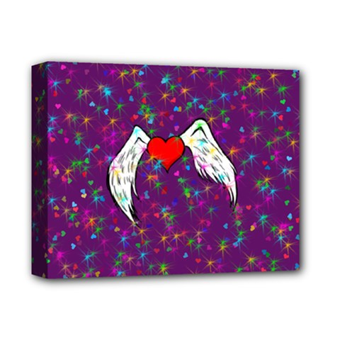 Your Heart Has Wings so Fly - Updated Deluxe Canvas 14  x 11  (Framed) by KurisutsuresRandoms