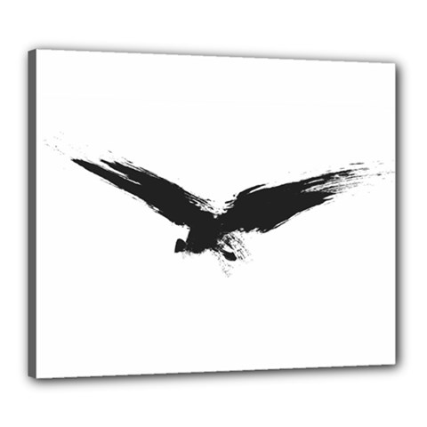 Grunge Bird Canvas 24  X 20  (framed) by magann