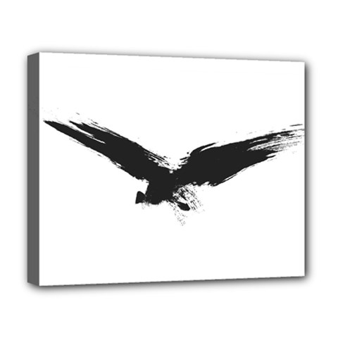 Grunge Bird Deluxe Canvas 20  X 16  (framed) by magann