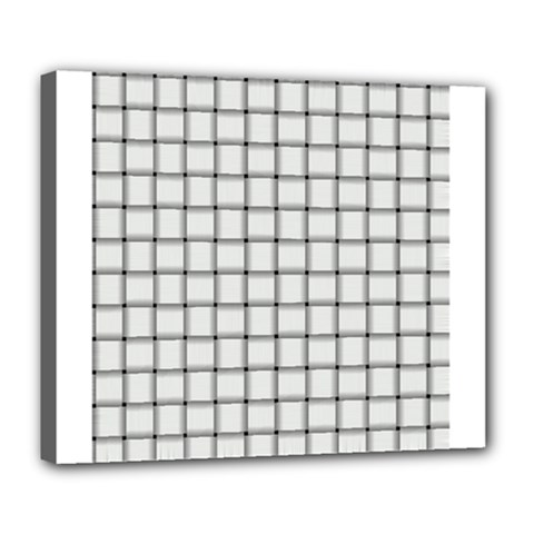 White Weave Deluxe Canvas 24  X 20  (framed) by BestCustomGiftsForYou