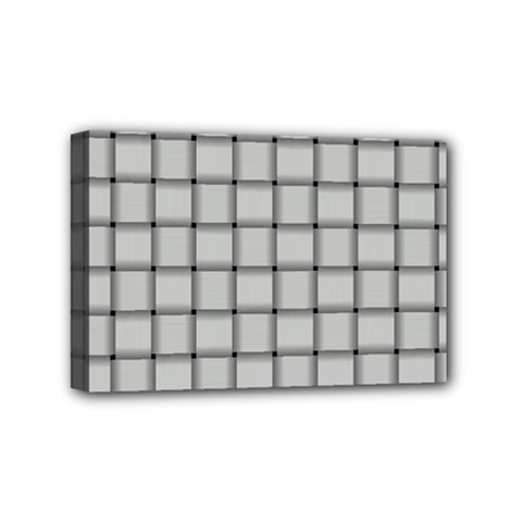 Gray Weave Mini Canvas 6  X 4  (framed) by BestCustomGiftsForYou