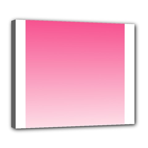 French Rose To Piggy Pink Gradient Deluxe Canvas 24  X 20  (framed) by BestCustomGiftsForYou