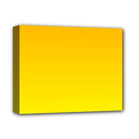 Chrome Yellow To Yellow Gradient Deluxe Canvas 14  X 11  (framed) by BestCustomGiftsForYou