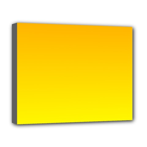 Chrome Yellow To Yellow Gradient Deluxe Canvas 20  X 16  (framed) by BestCustomGiftsForYou
