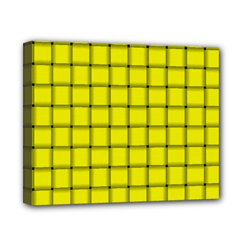 Yellow Weave Canvas 10  X 8  (framed) by BestCustomGiftsForYou