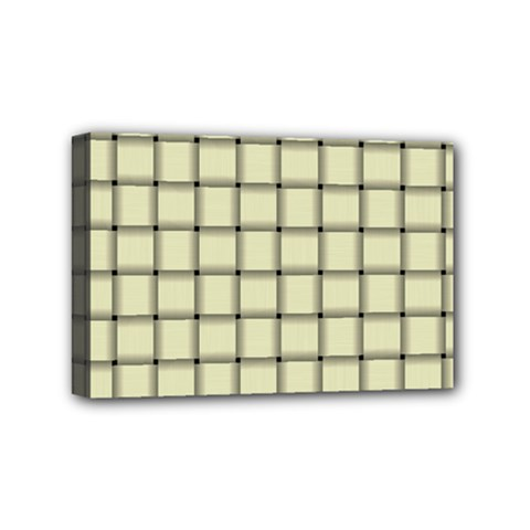 Cream Weave Mini Canvas 6  X 4  (framed) by BestCustomGiftsForYou
