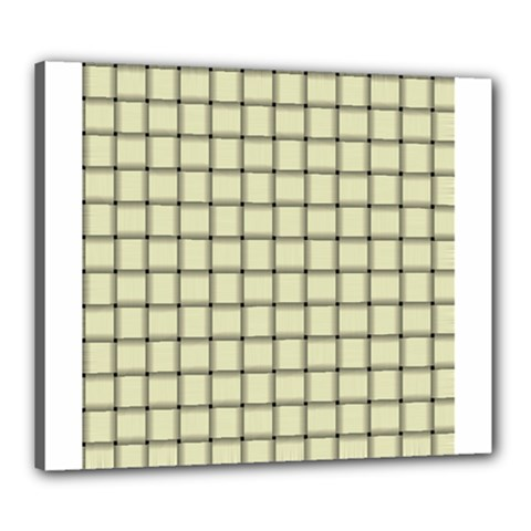 Cream Weave Canvas 24  X 20  (framed) by BestCustomGiftsForYou