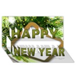 Happy New Year 3D Greeting Card - Happy New Year 3D Greeting Card (8x4)