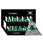 My Christmas 3D card - Merry Xmas 3D Greeting Card (8x4)