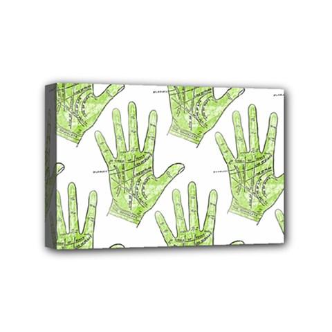 Palmistry Mini Canvas 6  x 4  (Framed)