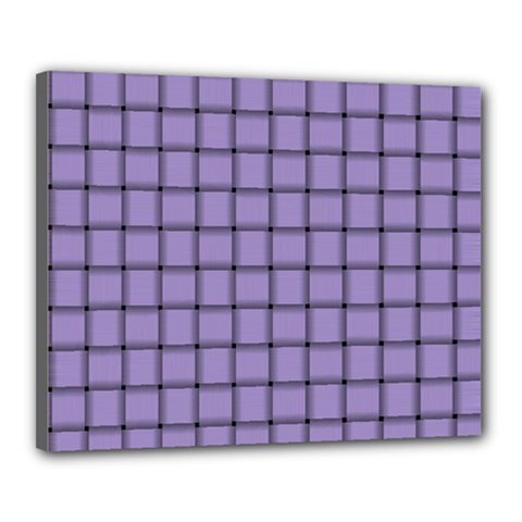 Light Pastel Purple Weave Canvas 20  X 16  (framed) by BestCustomGiftsForYou