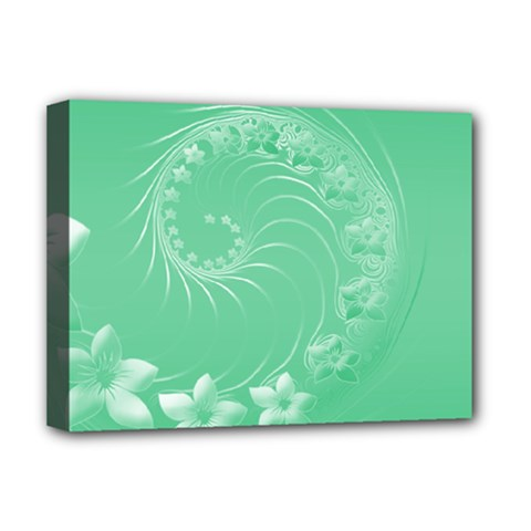 10   Light Green Flowers Deluxe Canvas 16  X 12  (framed)  by BestCustomGiftsForYou