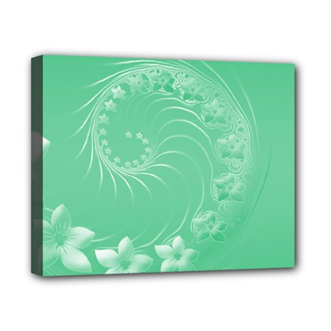 Light Green Abstract Flowers Canvas 10  X 8  (framed) by BestCustomGiftsForYou