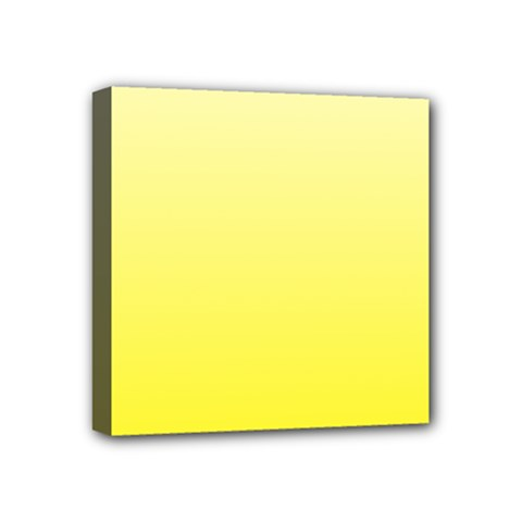 Cream To Cadmium Yellow Gradient Mini Canvas 4  X 4  (framed) by BestCustomGiftsForYou