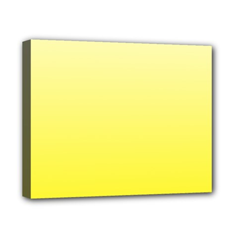 Cream To Cadmium Yellow Gradient Canvas 10  X 8  (framed) by BestCustomGiftsForYou
