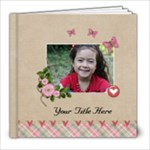 8x8 (20 pages) -  multi frames - ANY THEME - 8x8 Photo Book (20 pages)
