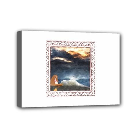 Stormy Twilight [framed] Mini Canvas 7  X 5  (framed)