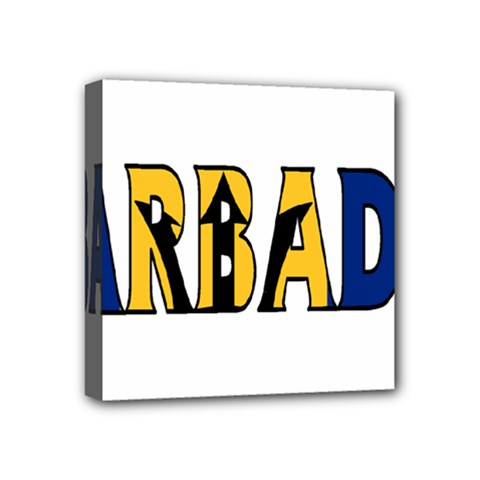 Barbados Mini Canvas 4  x 4  (Framed) by worldbanners