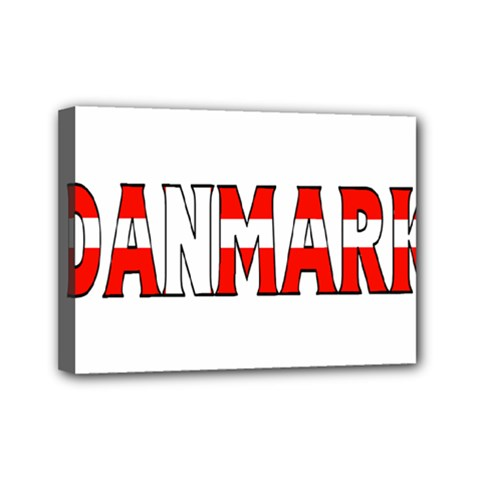Denmark Mini Canvas 7  x 5  (Framed) by worldbanners