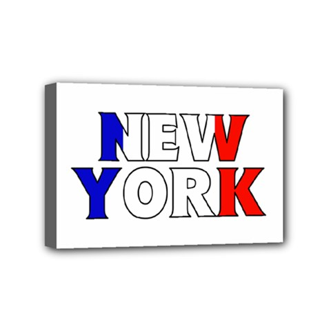 New York France Mini Canvas 6  X 4  (framed) by worldbanners