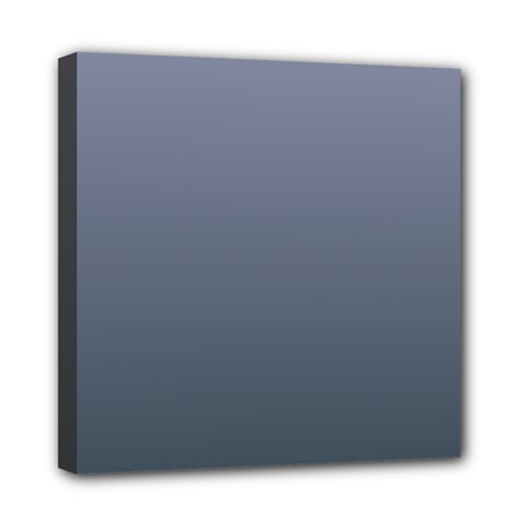 Cool Gray To Charcoal Gradient Mini Canvas 8  X 8  (framed) by BestCustomGiftsForYou