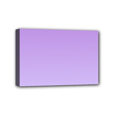 Lavender To Pale Lavender Gradient Mini Canvas 6  X 4  (framed) by BestCustomGiftsForYou