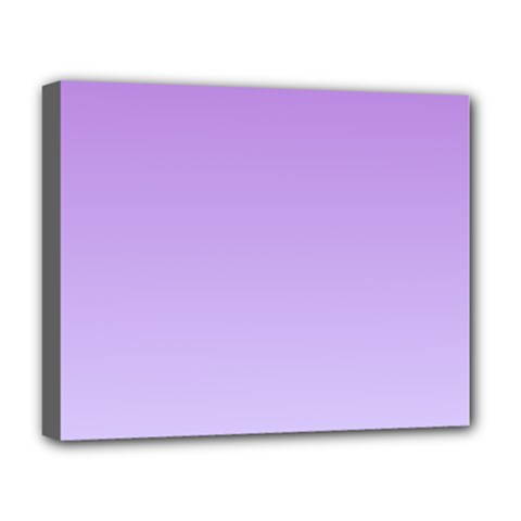 Lavender To Pale Lavender Gradient Deluxe Canvas 20  X 16  (framed) by BestCustomGiftsForYou