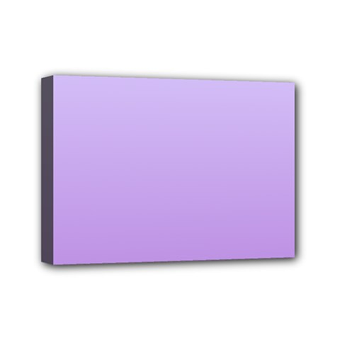 Pale Lavender To Lavender Gradient Mini Canvas 7  X 5  (framed) by BestCustomGiftsForYou