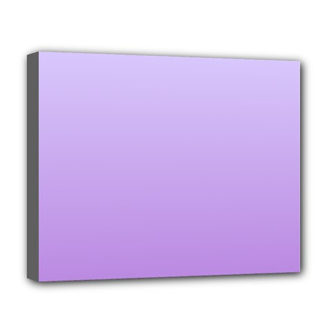 Pale Lavender To Lavender Gradient Deluxe Canvas 20  X 16  (framed) by BestCustomGiftsForYou