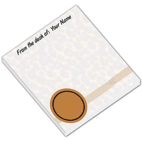 Cheeta Notepad By Lam   Small Memo Pads   822vkwyf7cor   Www Artscow Com