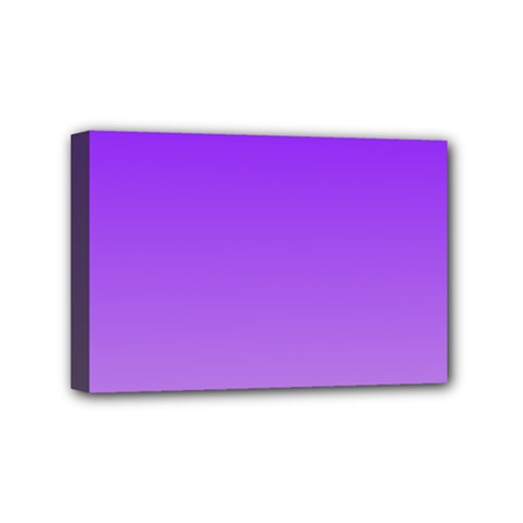 Violet To Wisteria Gradient Mini Canvas 6  X 4  (framed) by BestCustomGiftsForYou