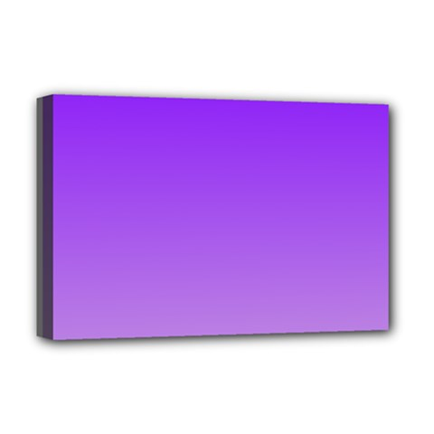 Violet To Wisteria Gradient Deluxe Canvas 18  x 12  (Framed)