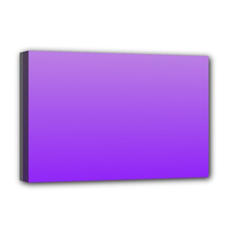 Wisteria To Violet Gradient Deluxe Canvas 18  X 12  (framed) by BestCustomGiftsForYou