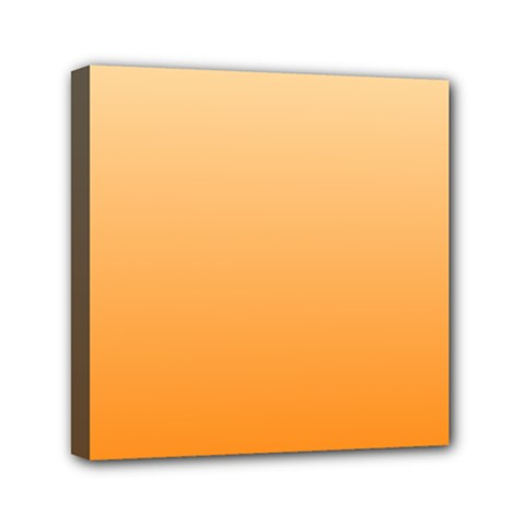 Peach To Orange Gradient Mini Canvas 6  X 6  (framed) by BestCustomGiftsForYou