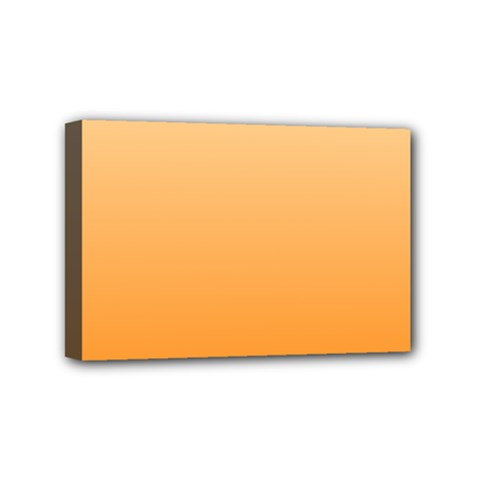 Peach To Orange Gradient Mini Canvas 6  X 4  (framed) by BestCustomGiftsForYou