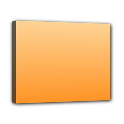 Peach To Orange Gradient Canvas 10  X 8  (framed) by BestCustomGiftsForYou