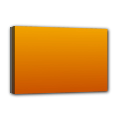 Amber To Mahogany Gradient Deluxe Canvas 18  x 12  (Framed) by BestCustomGiftsForYou