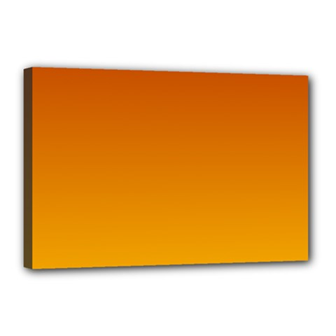 Mahogany To Amber Gradient Canvas 18  X 12  (framed) by BestCustomGiftsForYou